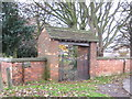 NZ4927 : Cemetery entrance Greatham Village by peter robinson