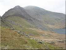 SH6643 : Miners' track on Moelwyn Bach by David Medcalf