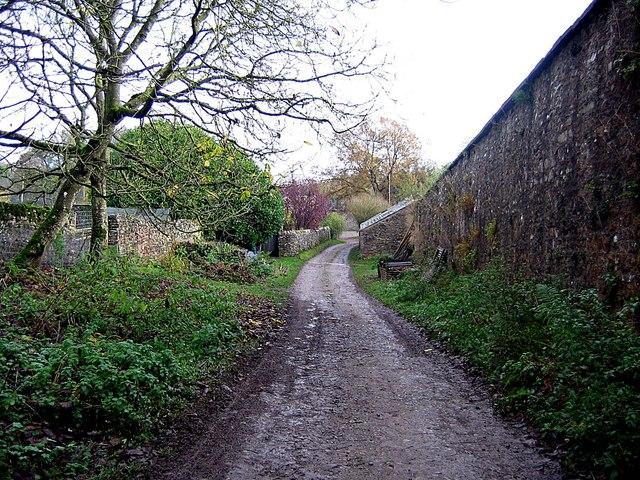 Farm road approaching Dalemain