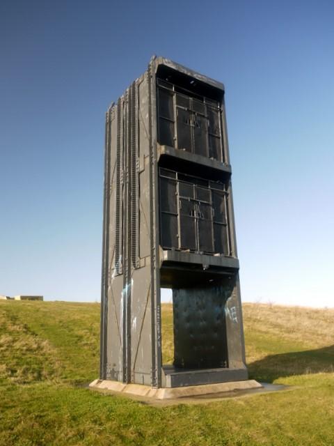 Pit Cage Monument, Easington Colliery