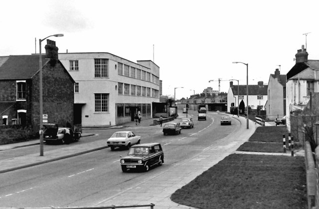 Fleming Way and the now demolished Garrard Factory