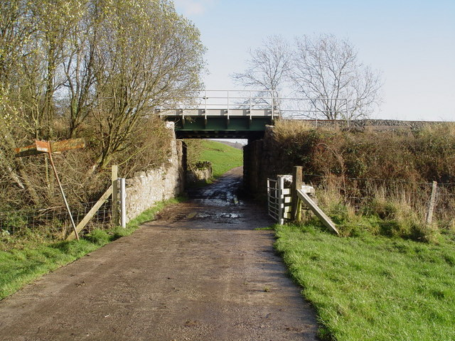 Railway bridge over footpath
