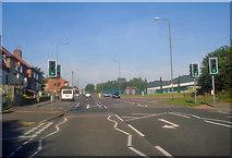 SK4666 : Main Road at Doe Lea and Bramley Vale by Trevor Rickard