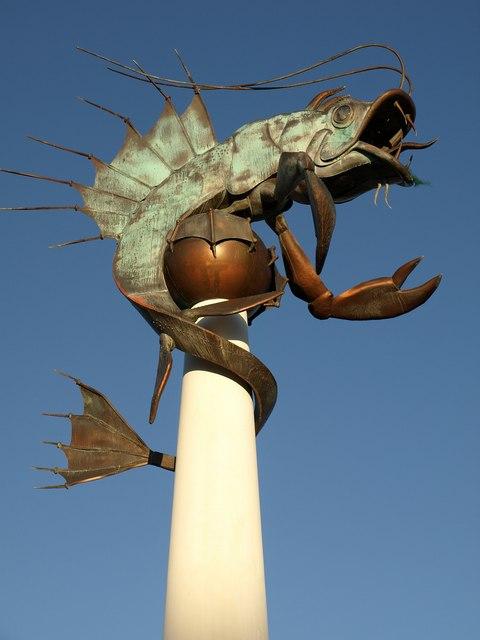Plymouth Sea Monster by Derek Harper