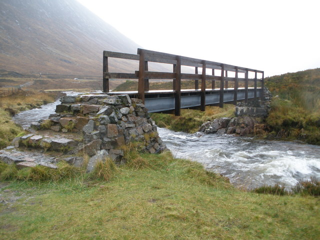 Footbridge over the River Coupall