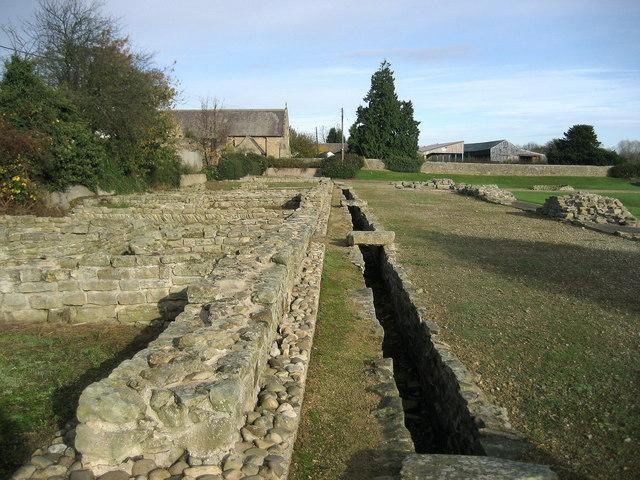 Part of the Roman Fort at Piercebridge