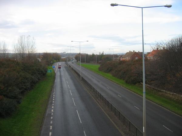 A184 near Wardley