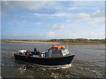 SZ1891 : Ferry fighting the tide - Mudeford by Sandy B