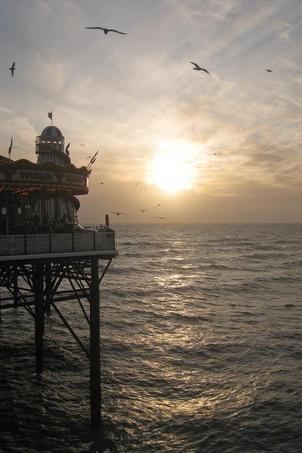 Low Sun at Palace Pier, Brighton