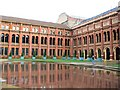 TQ2679 : The Central Pond at the Victoria and Albert Museum by Chris Reynolds