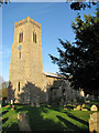 TG1901 : The church of St Mary Magdalen in Mulbarton by Evelyn Simak