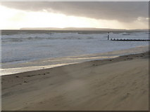 SZ1191 : Boscombe: threatening skies over Poole Bay by Chris Downer