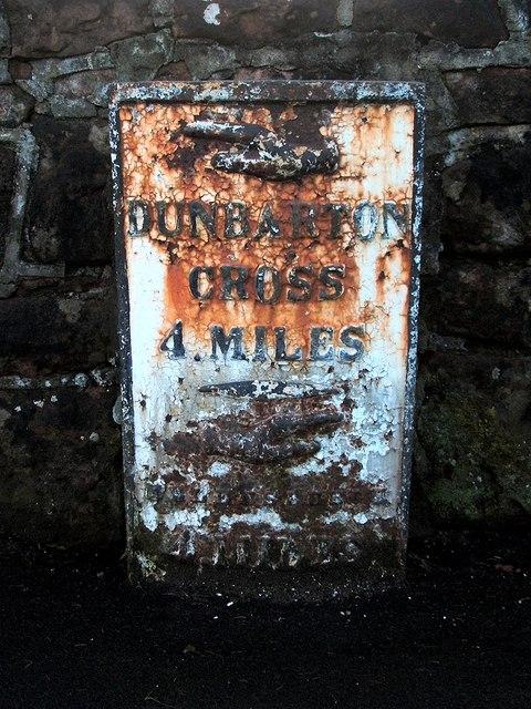 Old milestone in Cardross