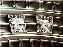 TQ2779 : Detail from Drury's Doorway to the Victoria and Albert Museum (ii) by tristan forward
