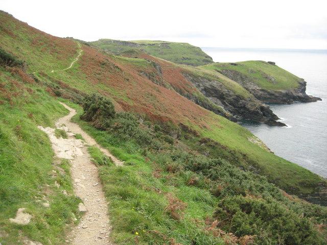 Coast path approaching Tintagel