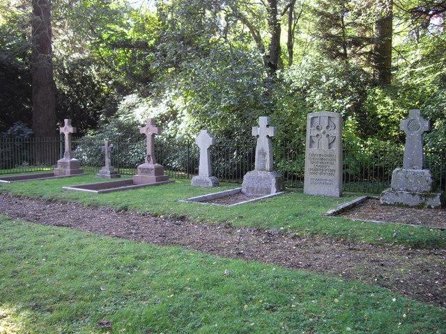 Gravestones at St. Bride's church Blair Castle