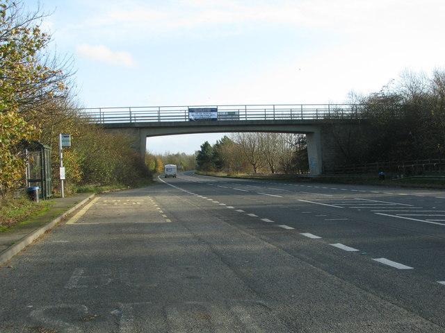 Bridge over the A4074 near Dorchester