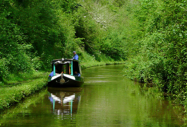 Shropshire Union Canal at Woodseaves Cutting
