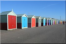 TQ2704 : Beach Huts, Hove Seafront by Peter Whitcomb