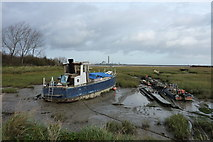 TQ8068 : A bit of an old wreck in Sharp's Green Bay by pam fray