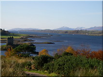NM9247 : Castle Stalker and the Lynne of Lorn beyond by Michael Jagger