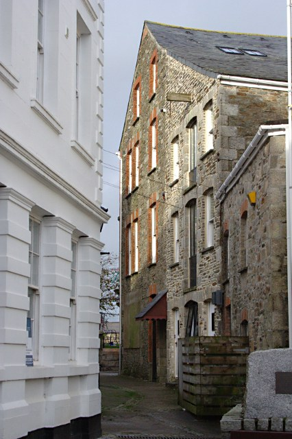 Buildings at the Centre of St Columb