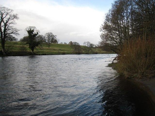 River Tees in spate at Barnard Castle