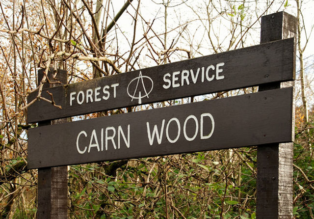 Sign, Cairn Wood near Belfast