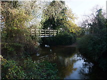 TF0611 : Footbridge and ford across the River West Glen by Tim Heaton
