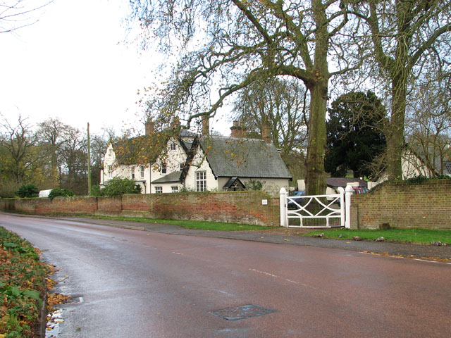 View across The Street towards the Old Rectory