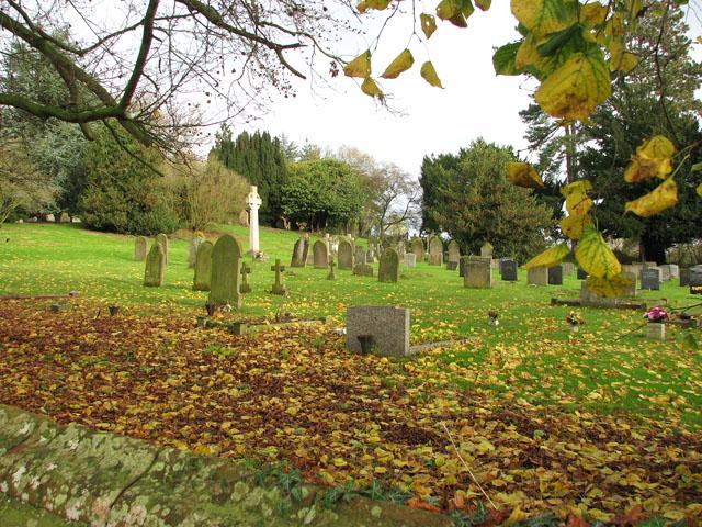View across St Margaret's churchyard