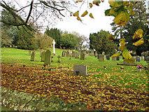 TM2384 : View across St Margaret's churchyard by Evelyn Simak