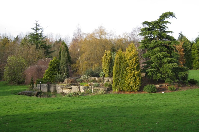 Rockery and water feature, Russell's Nursery