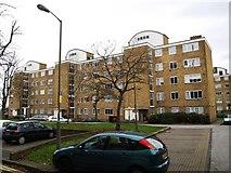 TQ2374 : Numbers 159 to 188 Hayward Gardens by Putney Heath by tristan forward