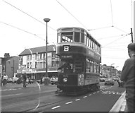 SD3035 : Tram on Lytham Road, Blackpool by Dr Neil Clifton