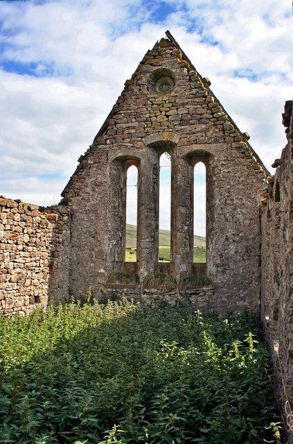 Interior View of Ruined Chapel at Harwood Beck