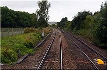 ST9898 : The railway line by Thames Head by Steve Daniels