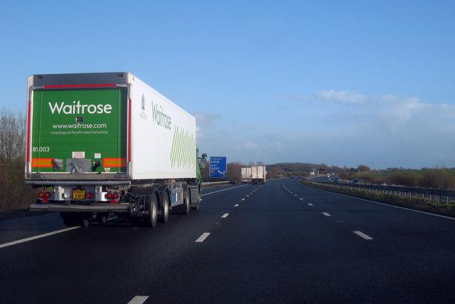 Lorries on M20 Motorway