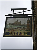SD4364 : The Pier, Marine Road Central, Sign by Alexander P Kapp