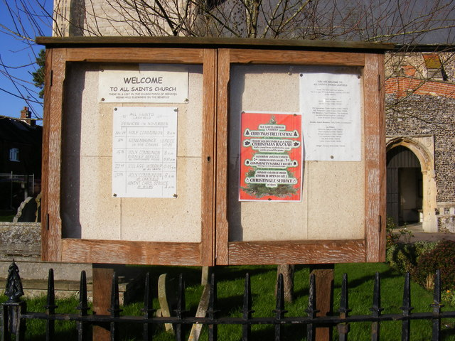 All Saints Church Notice Board