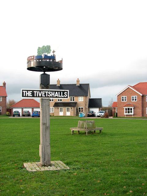 Tivetshall village sign