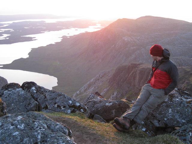 Sunset over the Fionn Loch