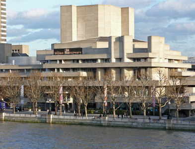 TQ3080 : The National Theatre from Hungerford Bridge by Anthony O'Neil