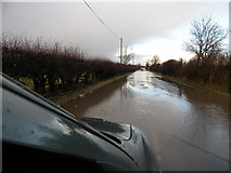NZ3417 : Road Flooded by malcolm tebbit