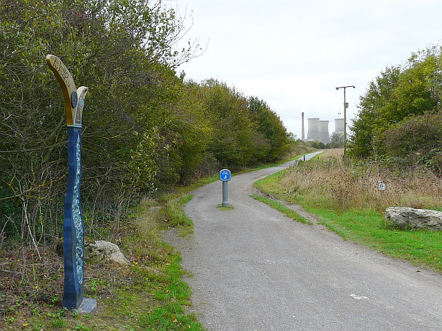 Off-road cycle track at Pegwell Bay