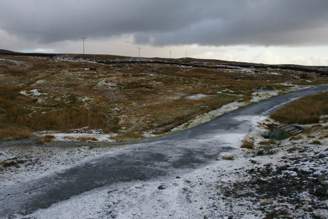 Former road between Voe and Laxo
