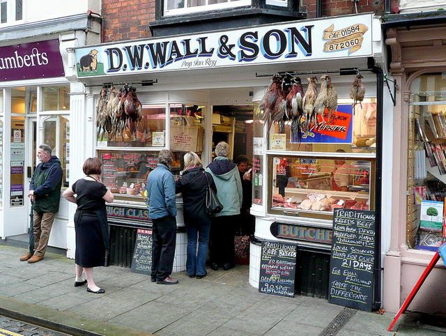 DW Wall - traditional butcher's shop, Ludlow by Jonathan Billinger