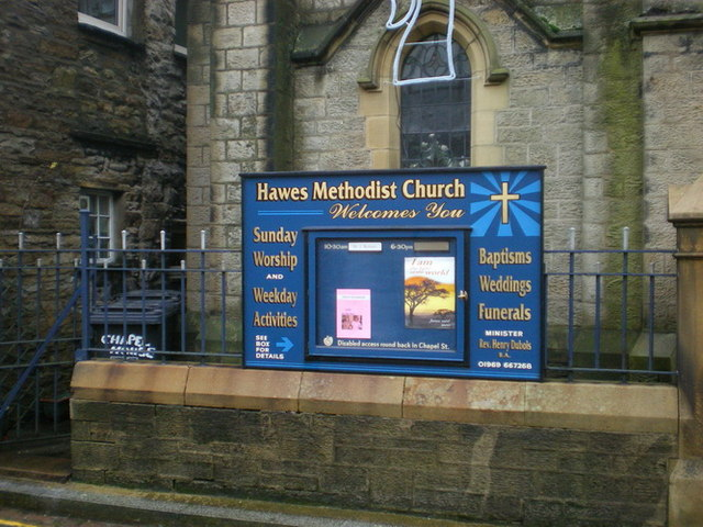 Hawes Methodist Church, Sign