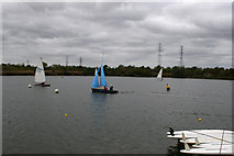 TQ5784 : Sailing Lake at Stubbers by terry joyce