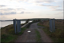 TQ5479 : Gates on the Rainham to Purfleet Path by N Chadwick